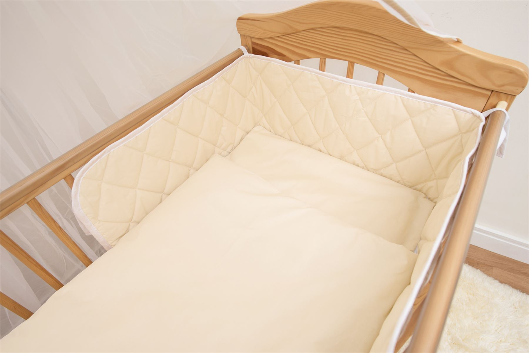 BABY CRIB COT BUMPER 2 3 4 Sided Quilted Large Bars All Cots Cotbed