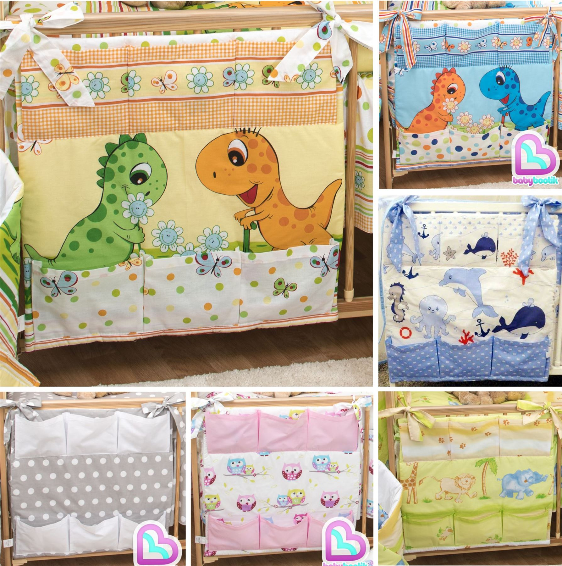 Organiser for Cot// Cotbed// Cot Bed Nursery Baby Cot Tidy