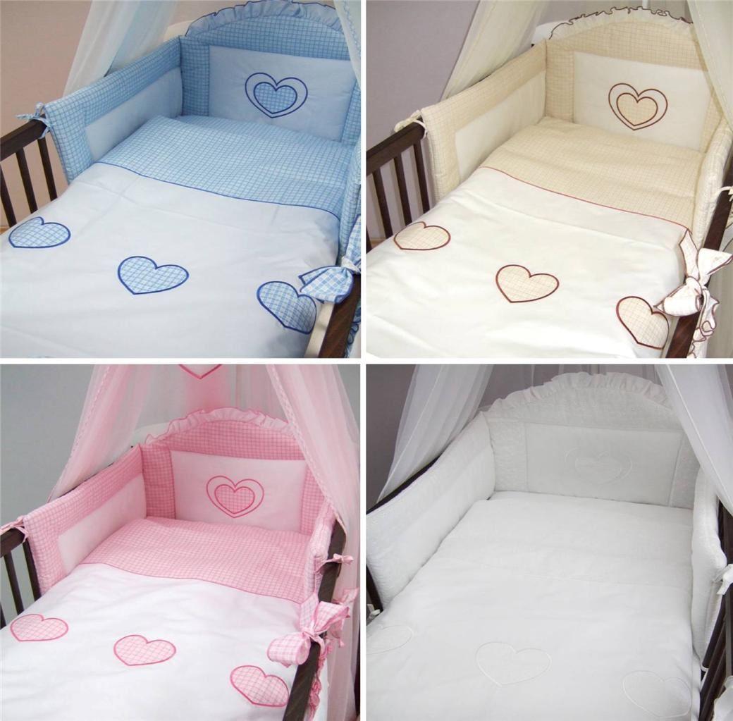 3 Teiliges Luxus Baby Bettwäsche Set Passend Zu Gitter Kinderbett