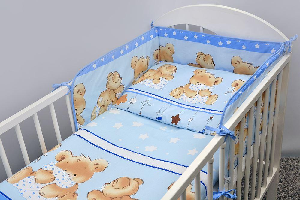 3 Piece Children Kids Bedding Set Long Round Cot Bed Bumper 120x60 140x70 cm