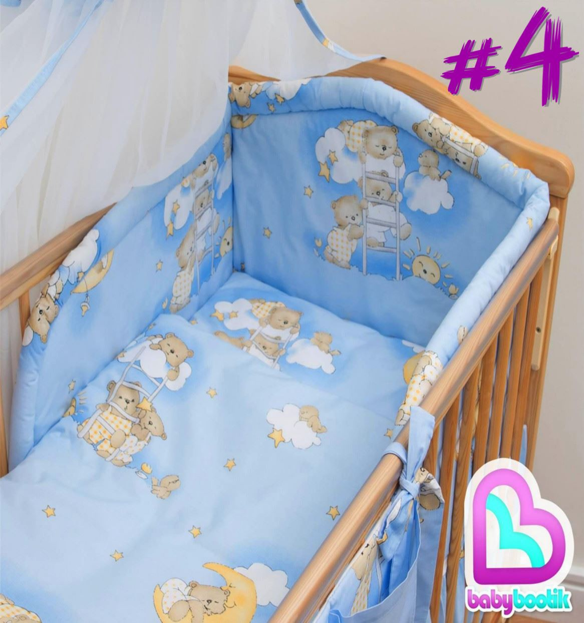 NURSERY COT /& COT BED BEDDING SET 3 PCS 6 10 PIECE SHEET DUVET BUMPER CANOPY