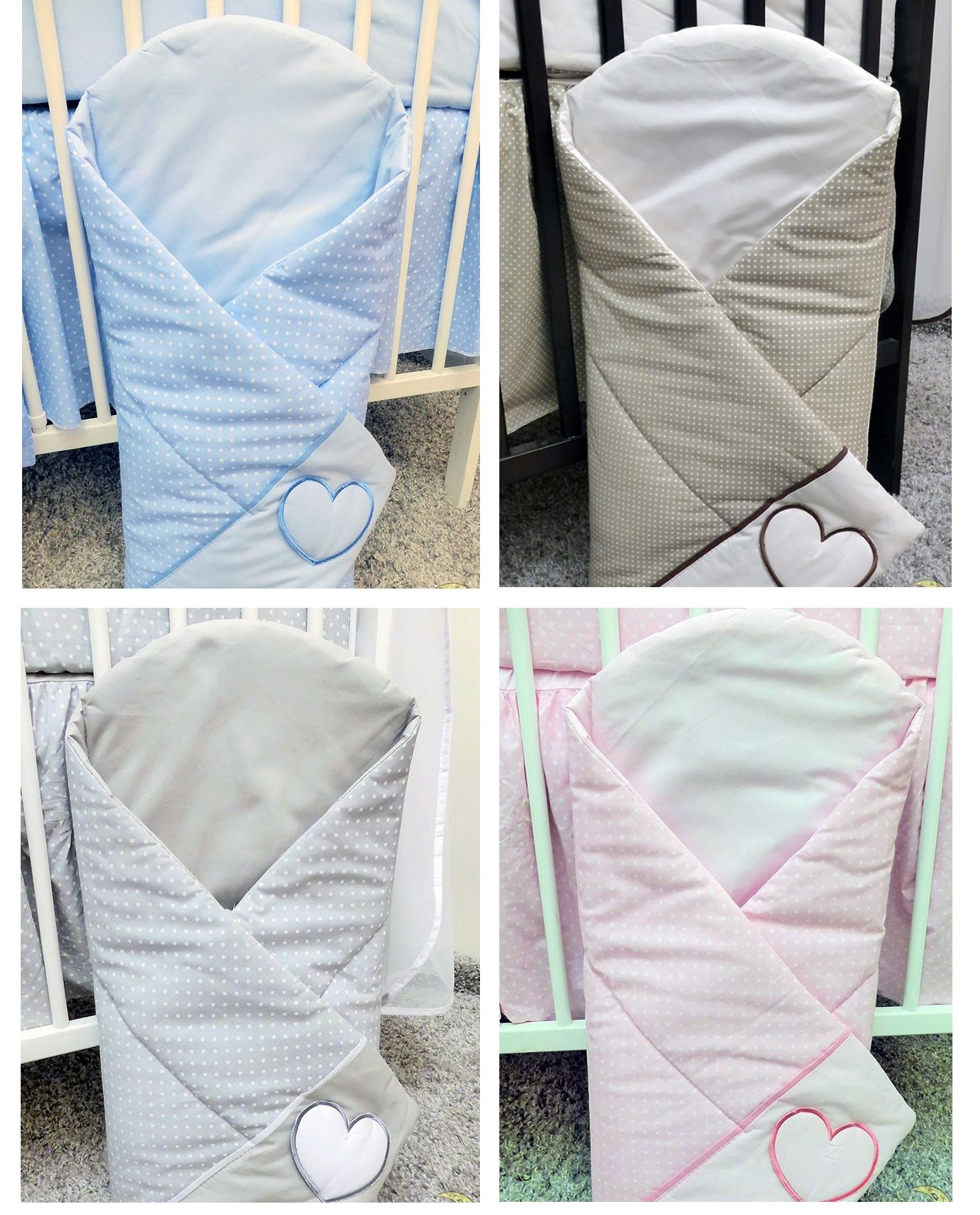 Swaddle Wrap Newborn Embroidered Cotton Quilt Blanket Baby Swaddling