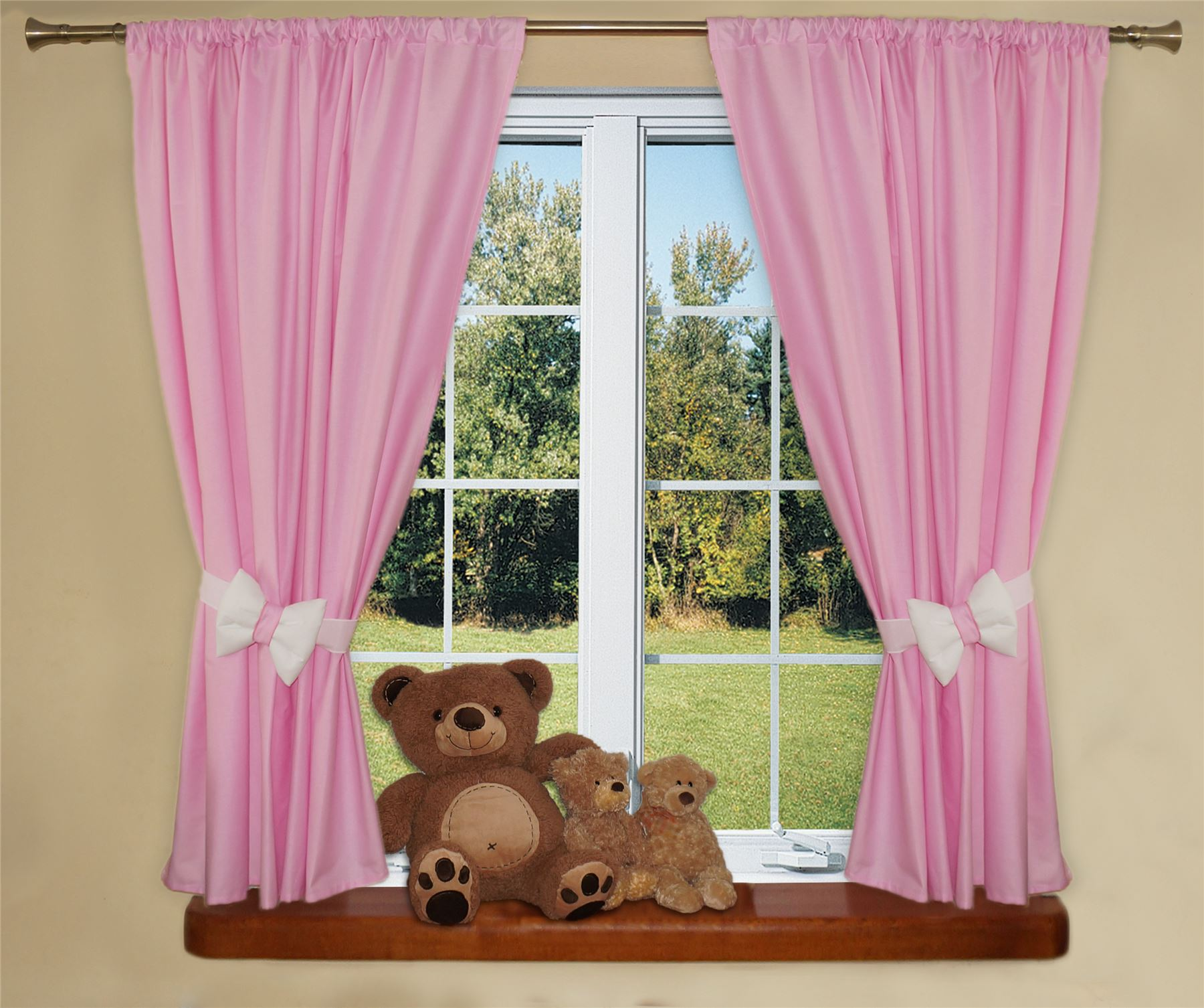 Baby Nursery Curtains Pink Curtains Kids Curtains Pair