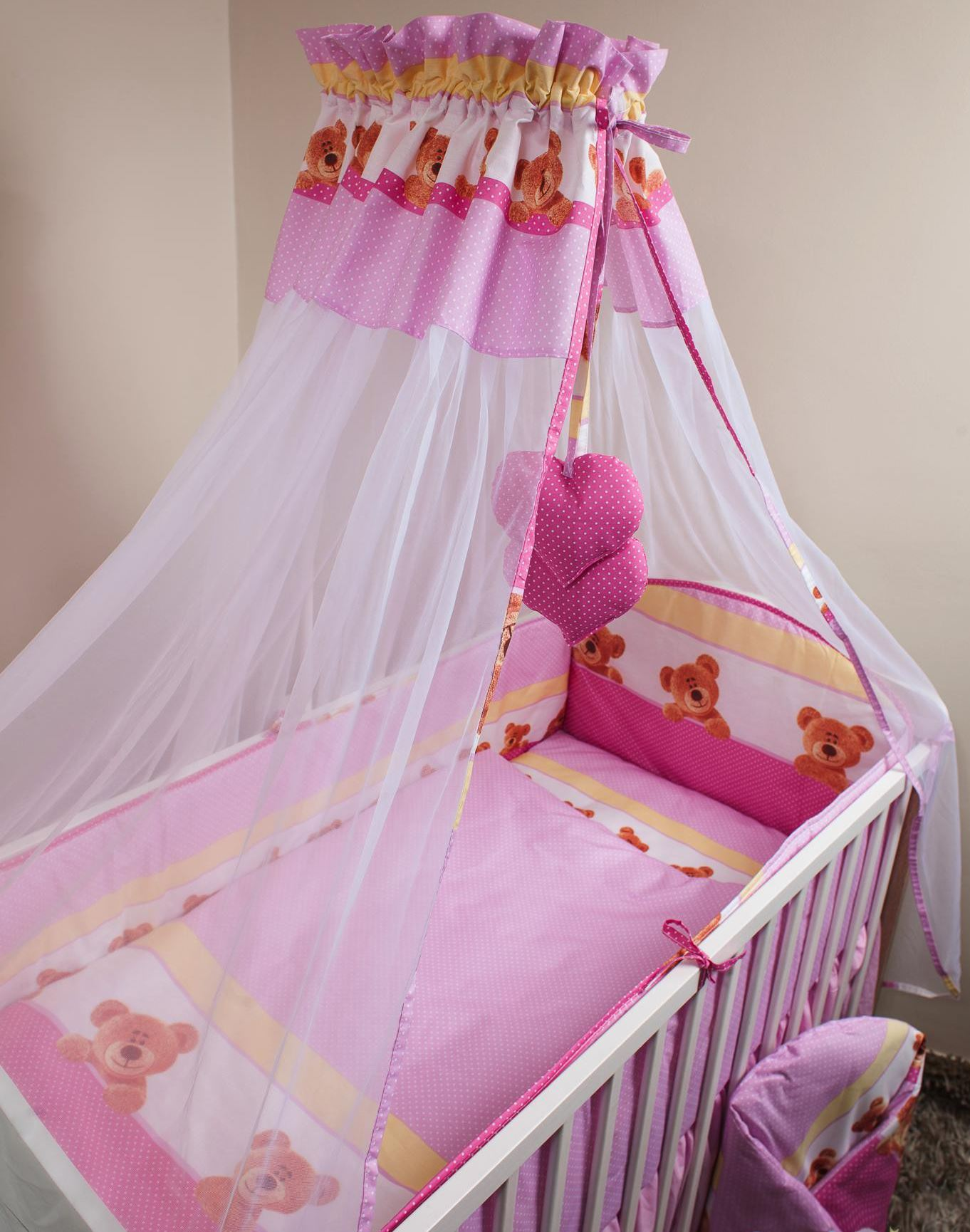 Baby Canopy For Bedroom: CHIFFON CANOPY DRAPE MOSQUITO NET + HOLDER FITS BABY