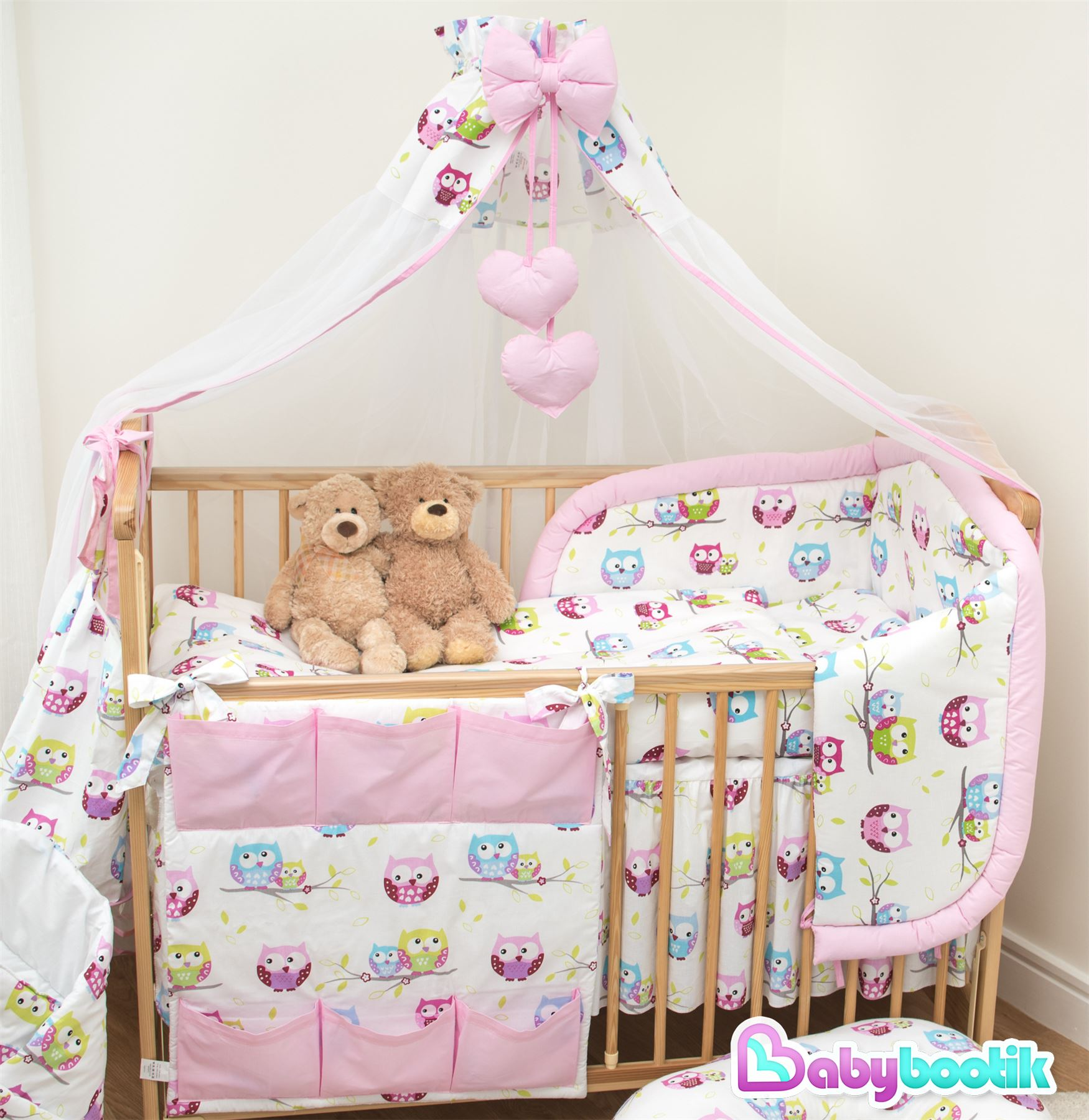Lovely Jungle Animals I Baby Cot Bedding Sets For Girls Boys Baby 9 Piece Crib Bedding And Bumper Set Infant Unisex Cot Sheet Duvet Pillow Bumper 140 X 70 120x60 Pink 100 Cotton