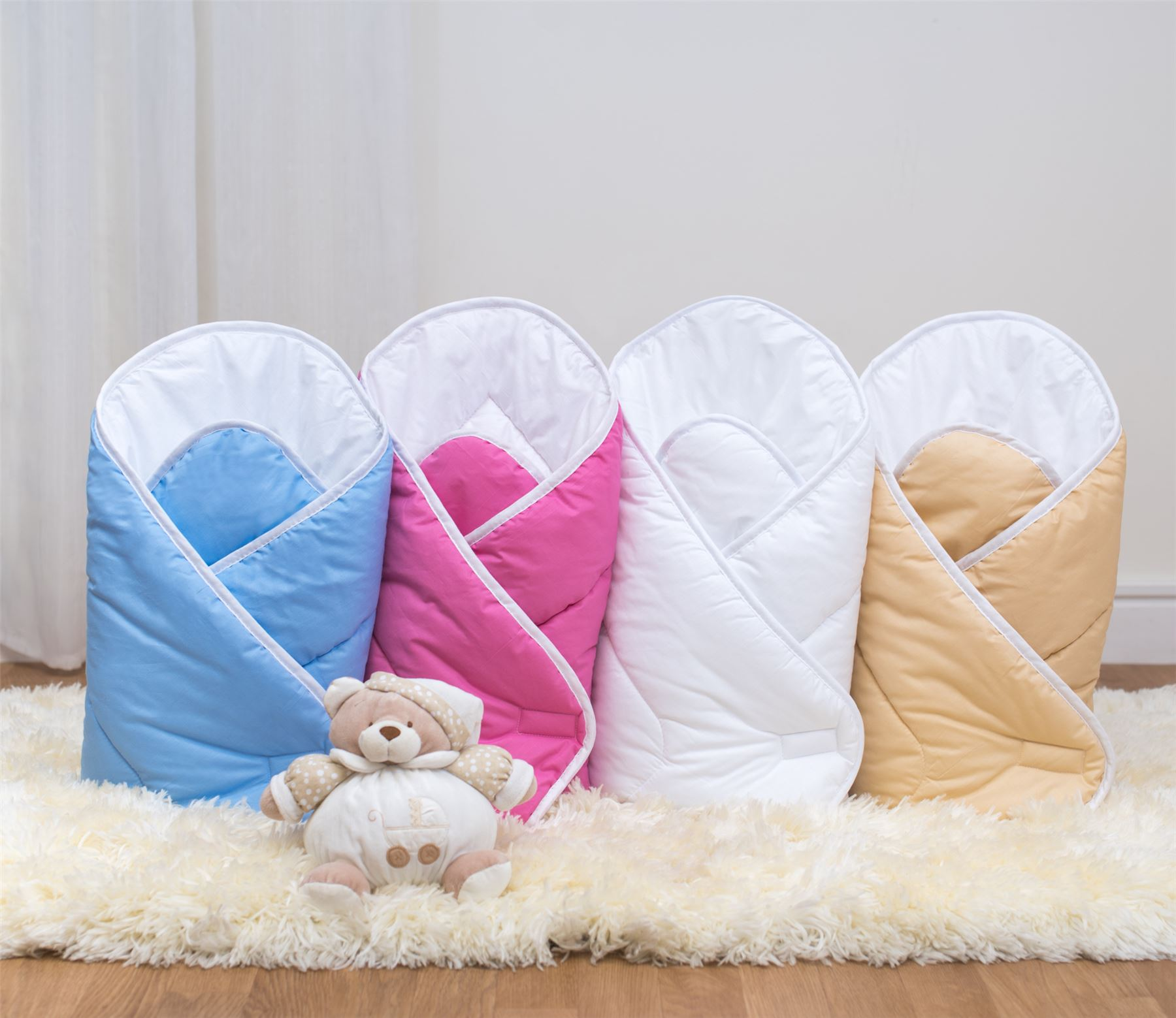 Infant Swaddling Newborn Blanket Luxury Soft Baby Swaddle Wrap Quilt Plain