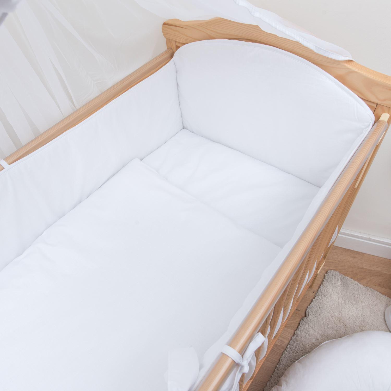 3 teiliges baby bettw sche set 120x60 140x70 cm 4 seitig kinderbett schutz ebay. Black Bedroom Furniture Sets. Home Design Ideas