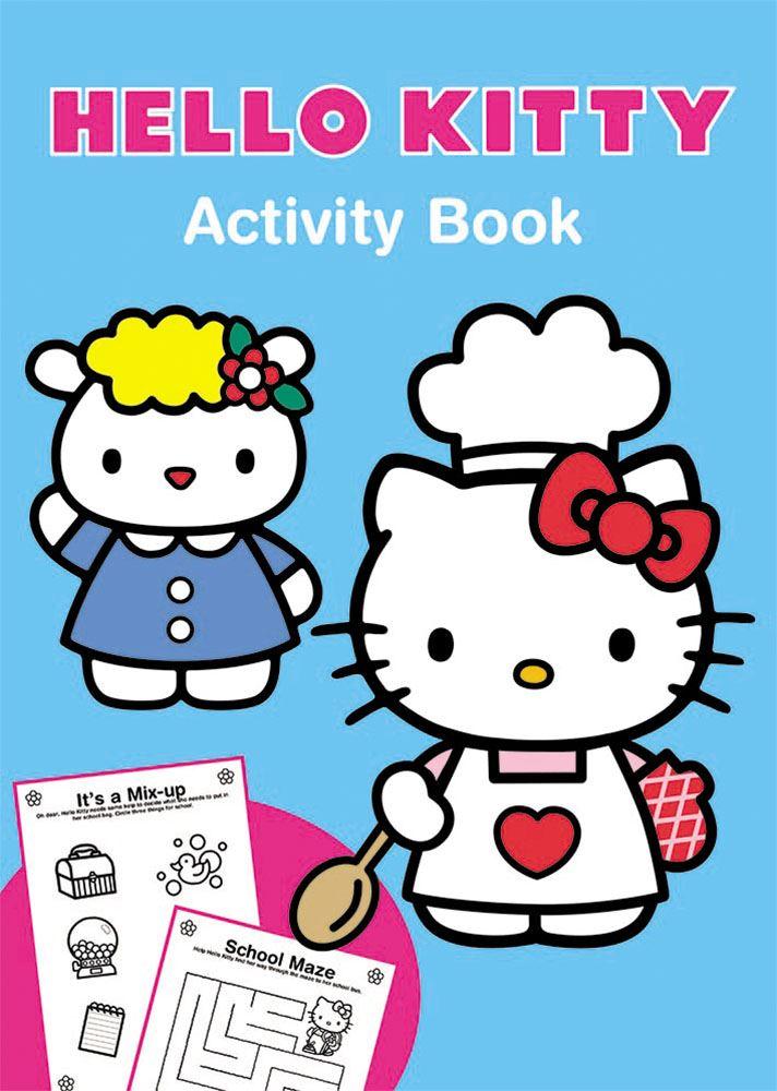 Details Sur Hello Kitty Enfants Livre D Activites Bleu Puzzles Colorer Dessin Enfants Filles