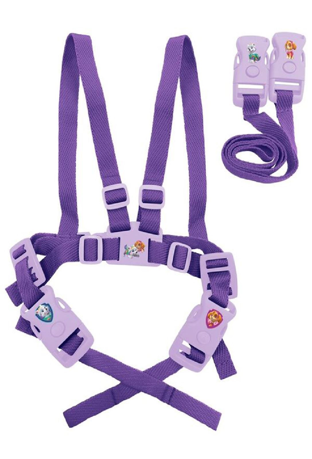 Girls Toddler Paw Patrol Skye Everest Safety Walking Harness Travel Reins Purple