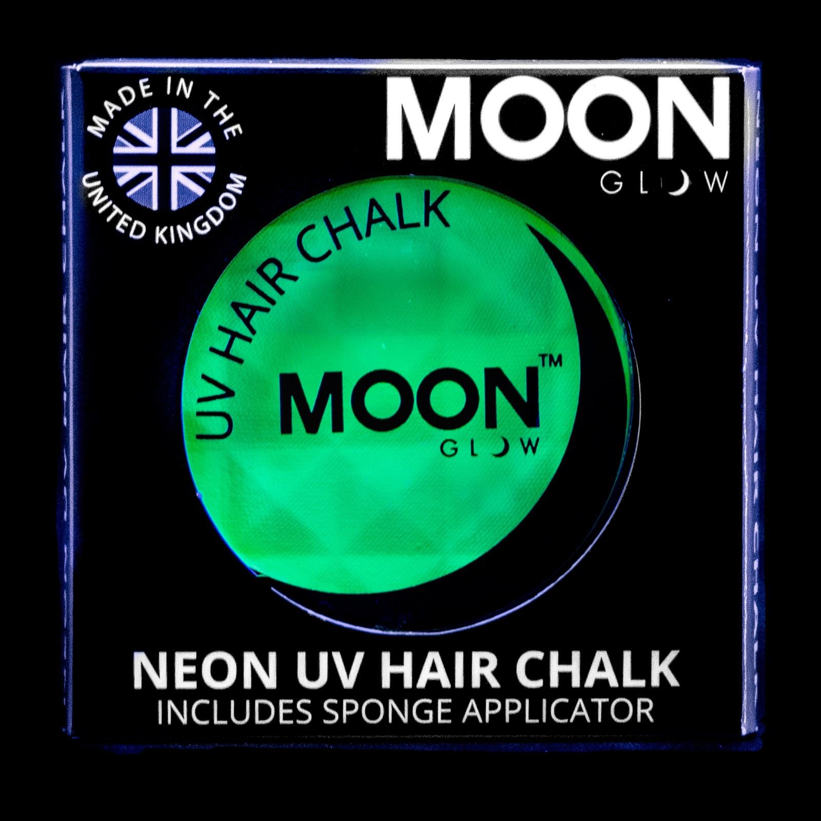 moon glow neon uv bright shiny hair chalk