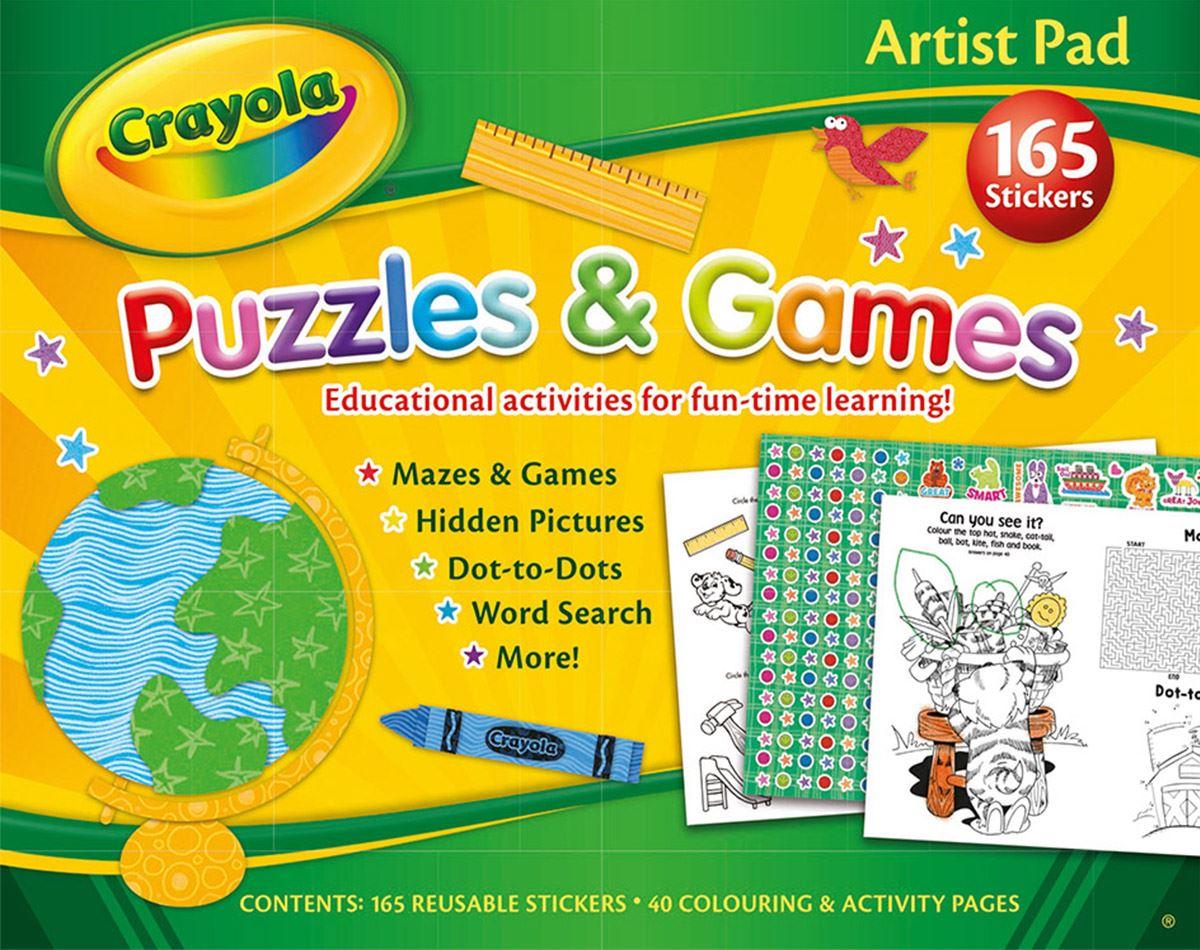Crayola Artista Pad: Puzles Y Juegos Infantil Divertido Actividades ...