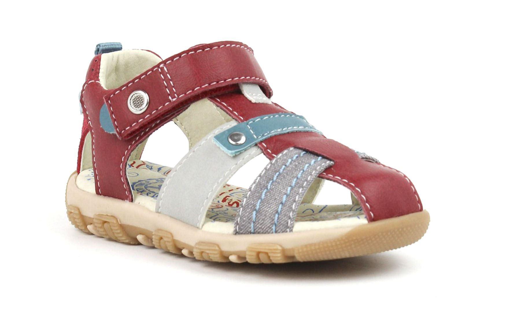 Boys Xti Kids Fishermans Sandal Red//Grey Hook /& Loop Child Size Eu 24-30 UK 7-11