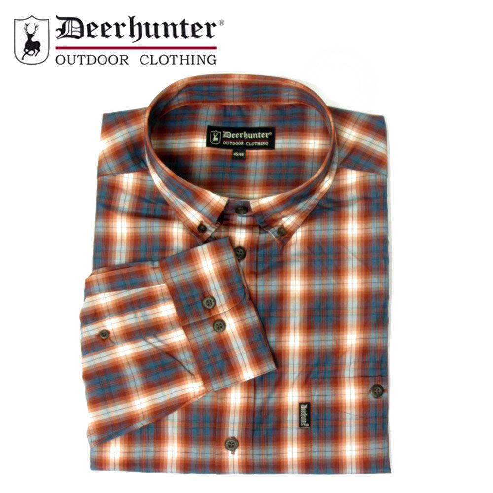 R2 Red//Pale Blue Check Country Hunting Shooting *Deerhunter Milton Shirt