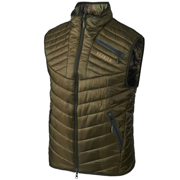 9014c0b2 Details about Harkila Lynx Insulated Reversible Waistcoat - Willow Green