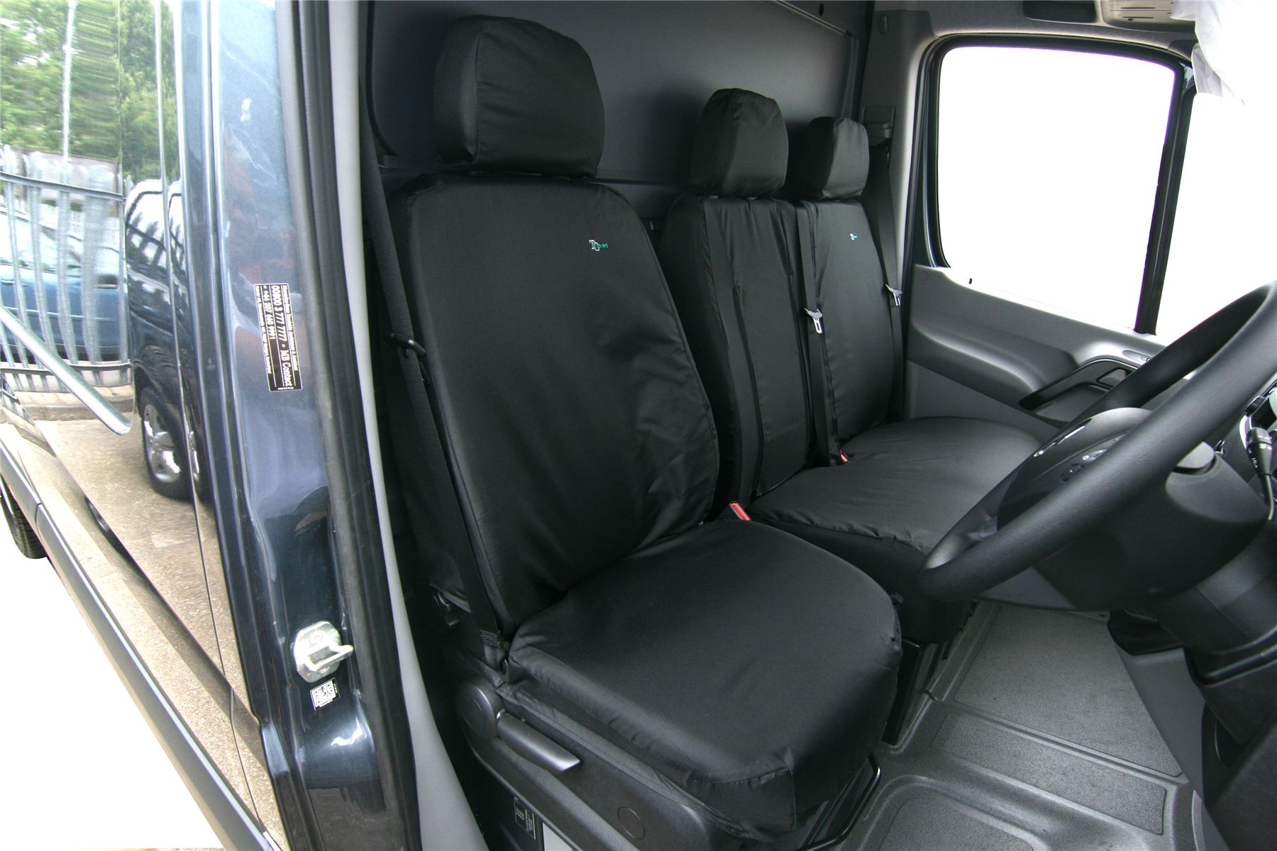 Mercedes Sprinter Seat Cover-FRONT SINGLE DRIVERS 2010 Black TAILORED