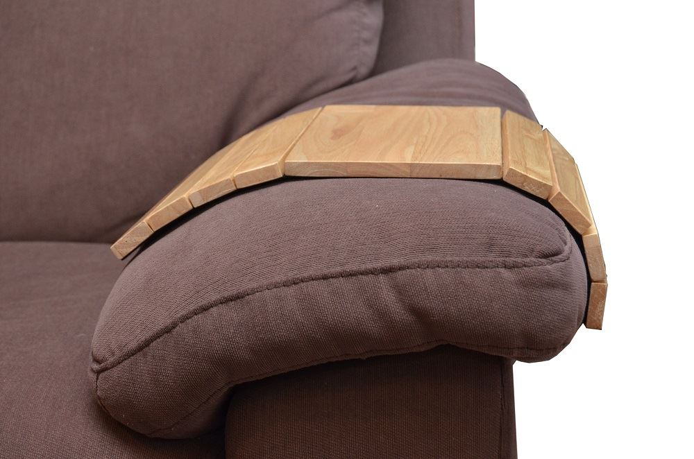 Flexible Wooden Sofa Arm Rest Armchair Tray Drink Snack ...