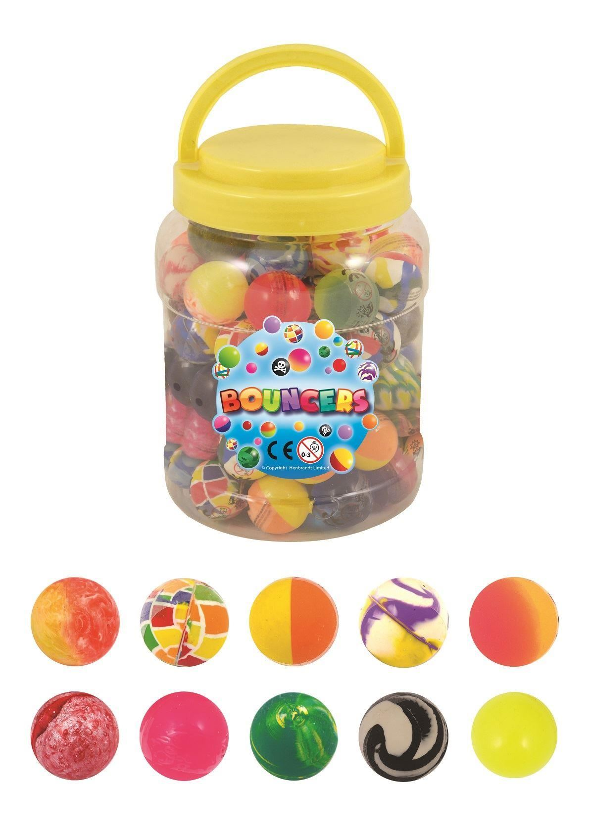 35mm Bouncy Large Jet Balls Bright Bouncers Kids Party Bag Pinata