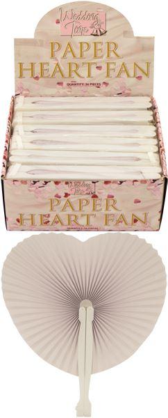 Wedding Anniversary Handheld Folding Paper Heart Fan Loot Party Bag Filler