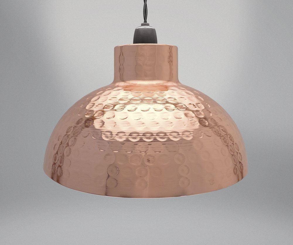 Matte Black Graphite Rose Gold Hammered Industrial Easy