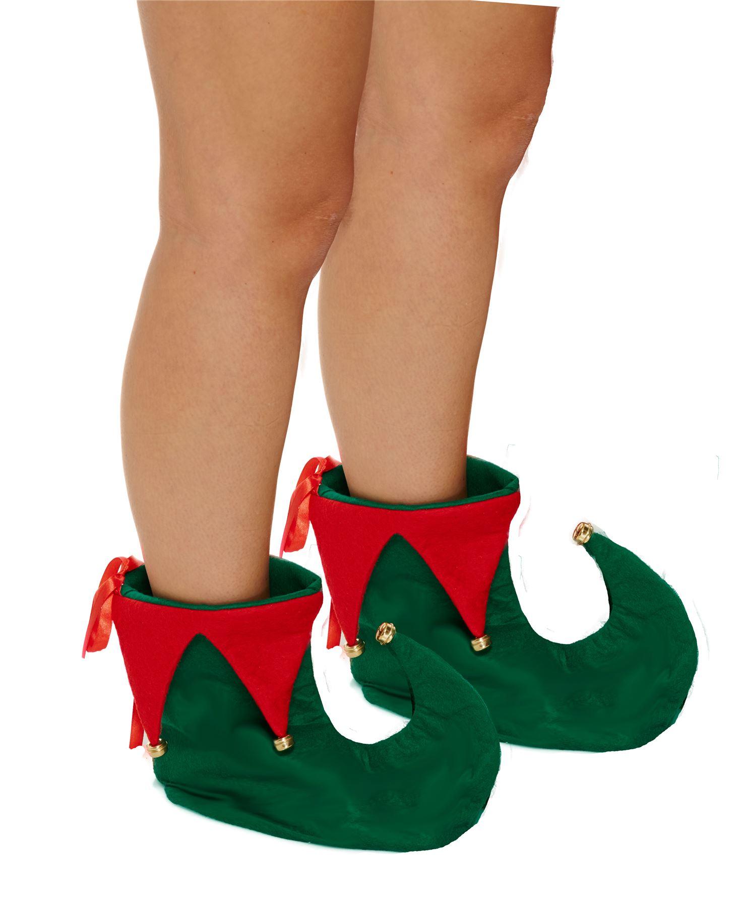 Christmas-Secret-Santa-Elf-Boots-Shoes-amp-Hat-