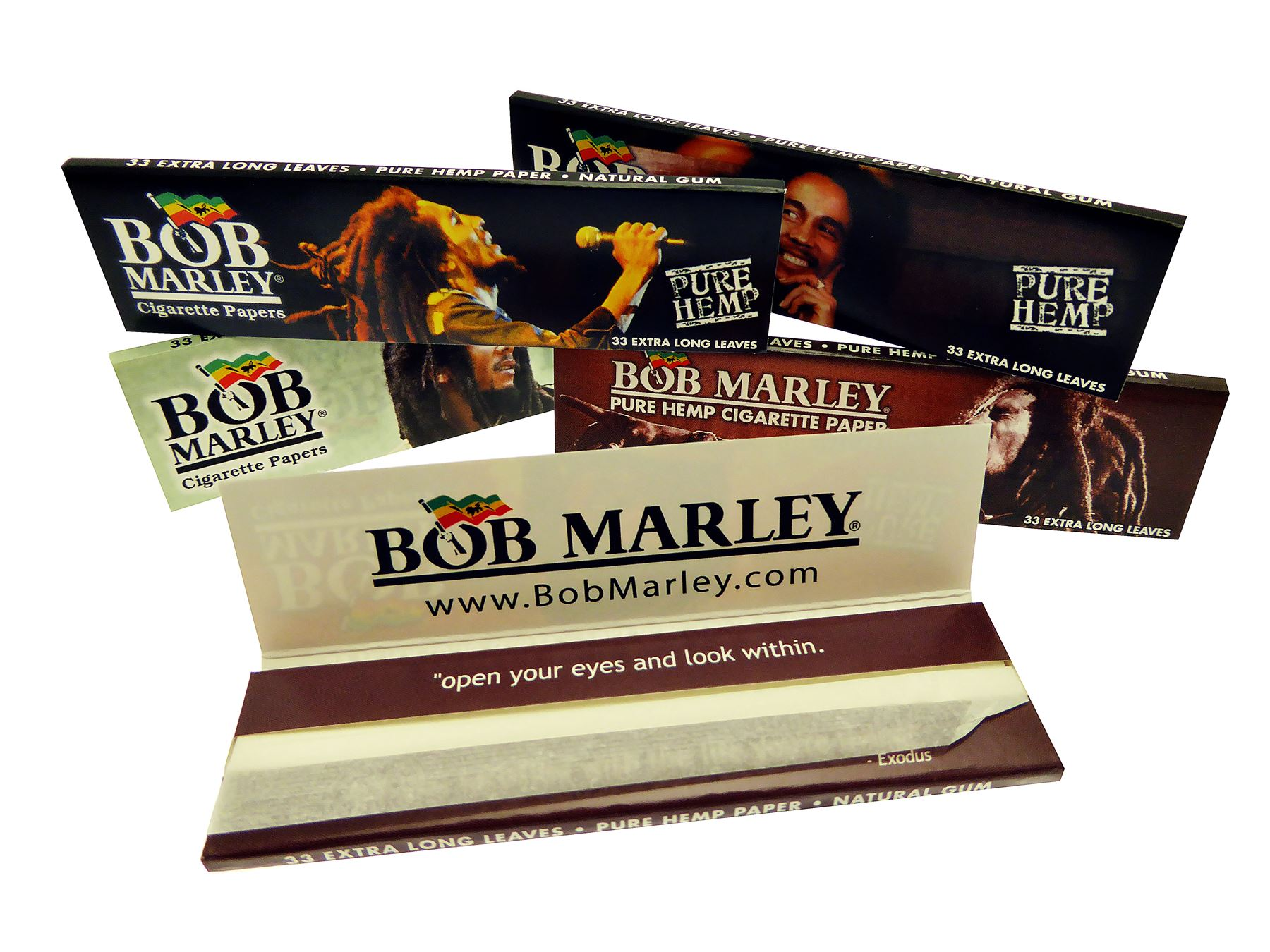 bob marley king size pure paper smoking rolling papers booklets