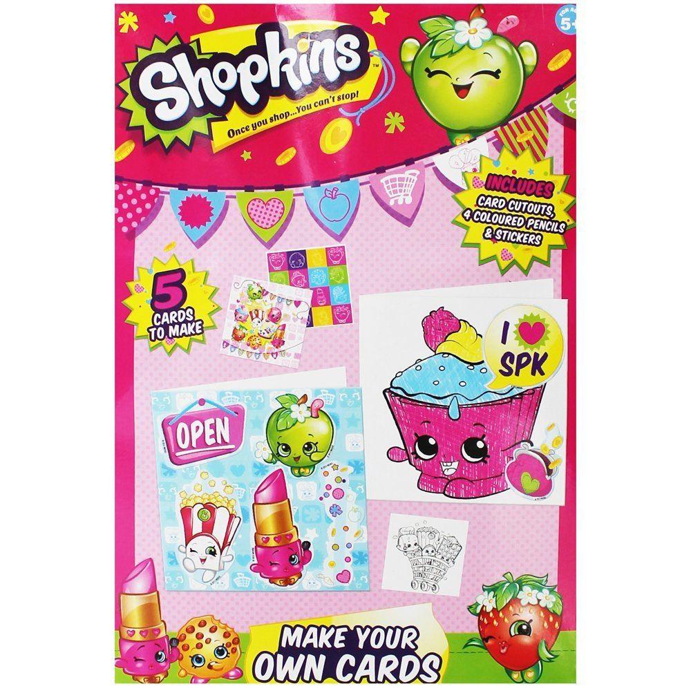 Shopkins Girls Pink Make Your Own Photo Frame Card DIY Art Craft Set ...