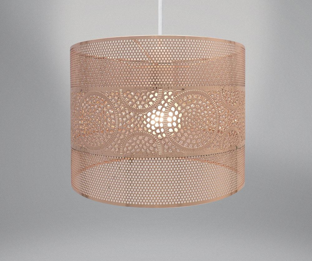 11 034 Rose Gold Copper Grey Metal Lace