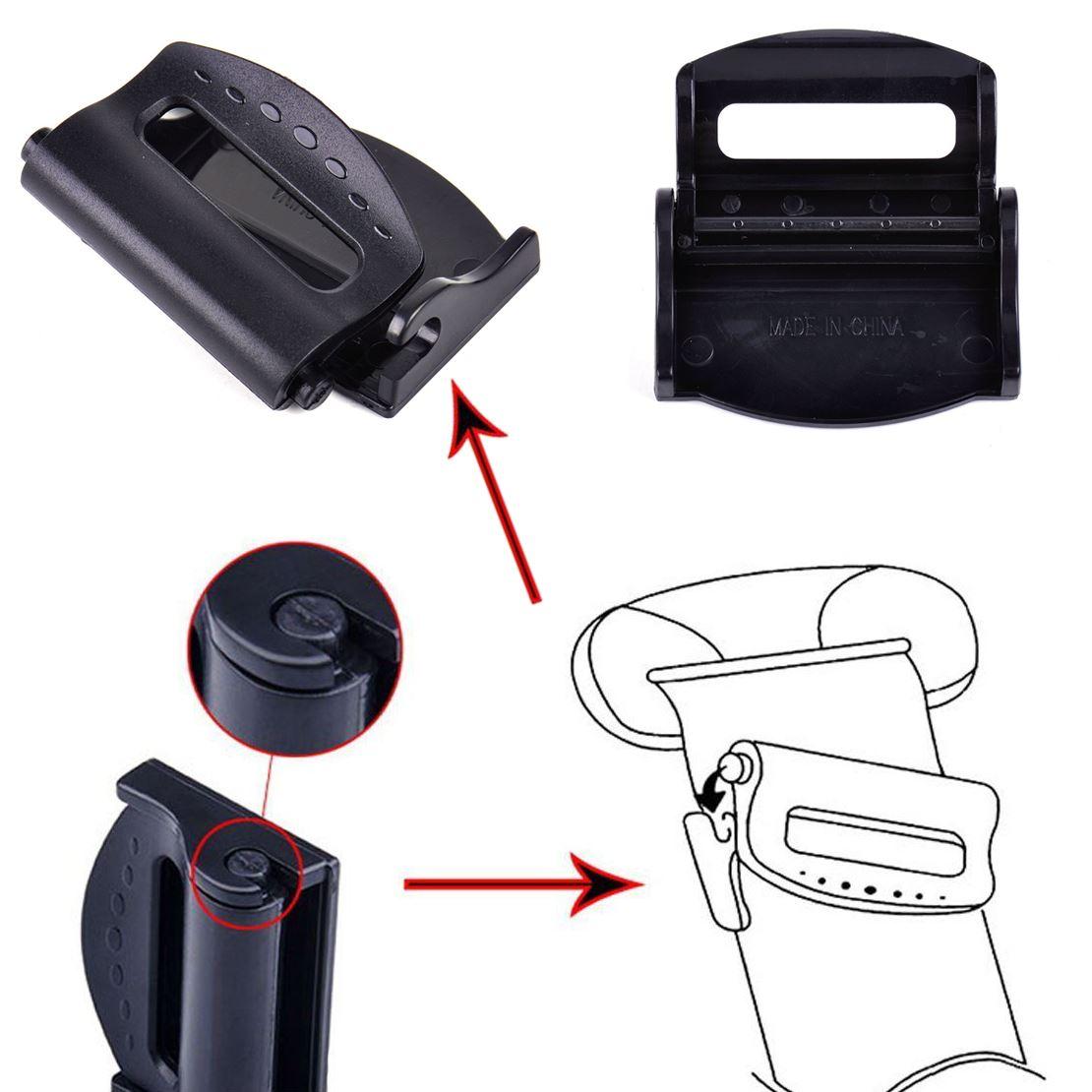 2x Car Seat Belt Adjuster Clip Safety Clamp Shoulder ...