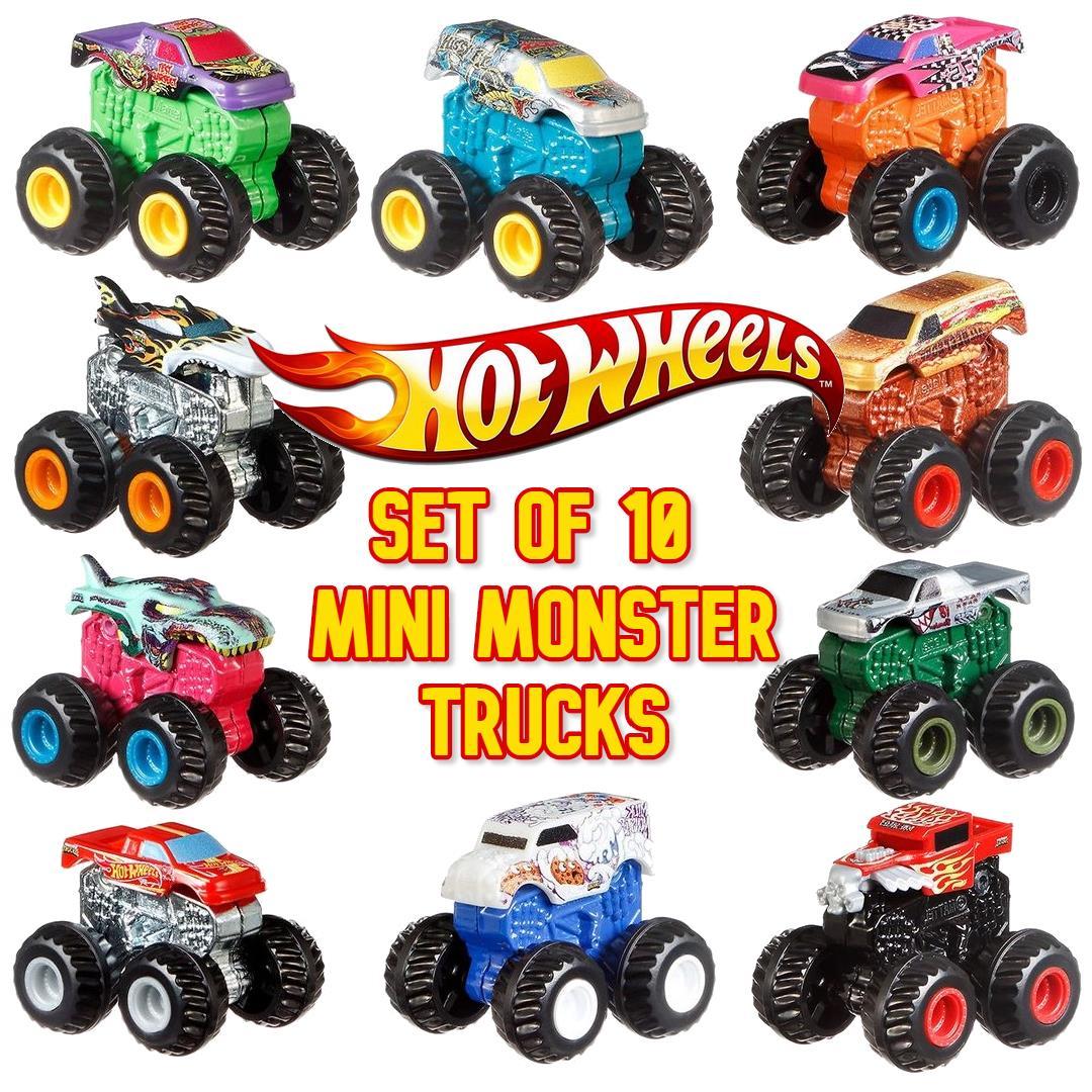 Hot Wheels Monster Trucks Set Of 10 Minis Vehicles Series 2 New Boxed 887961720983 Ebay