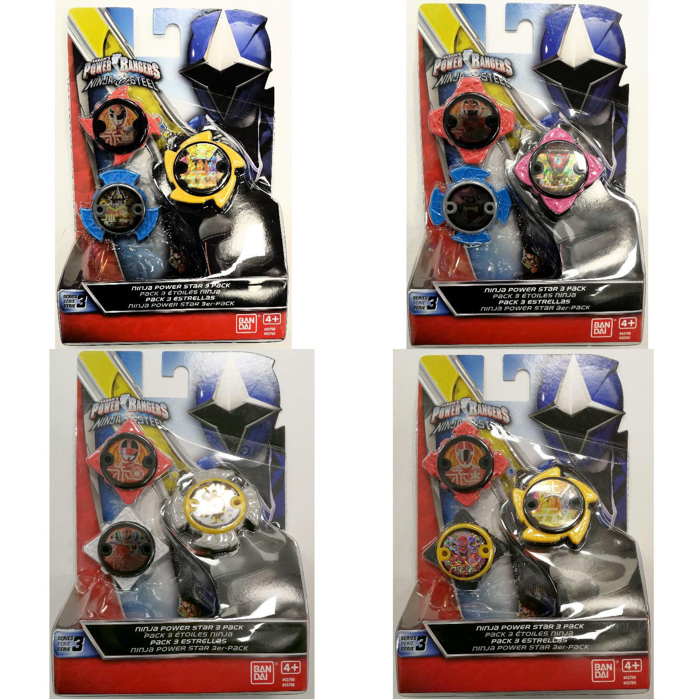 Ban Dai Power Rangers Ninja Steel Ninja Power Star Pack /& Launcher Series 1 /& 2