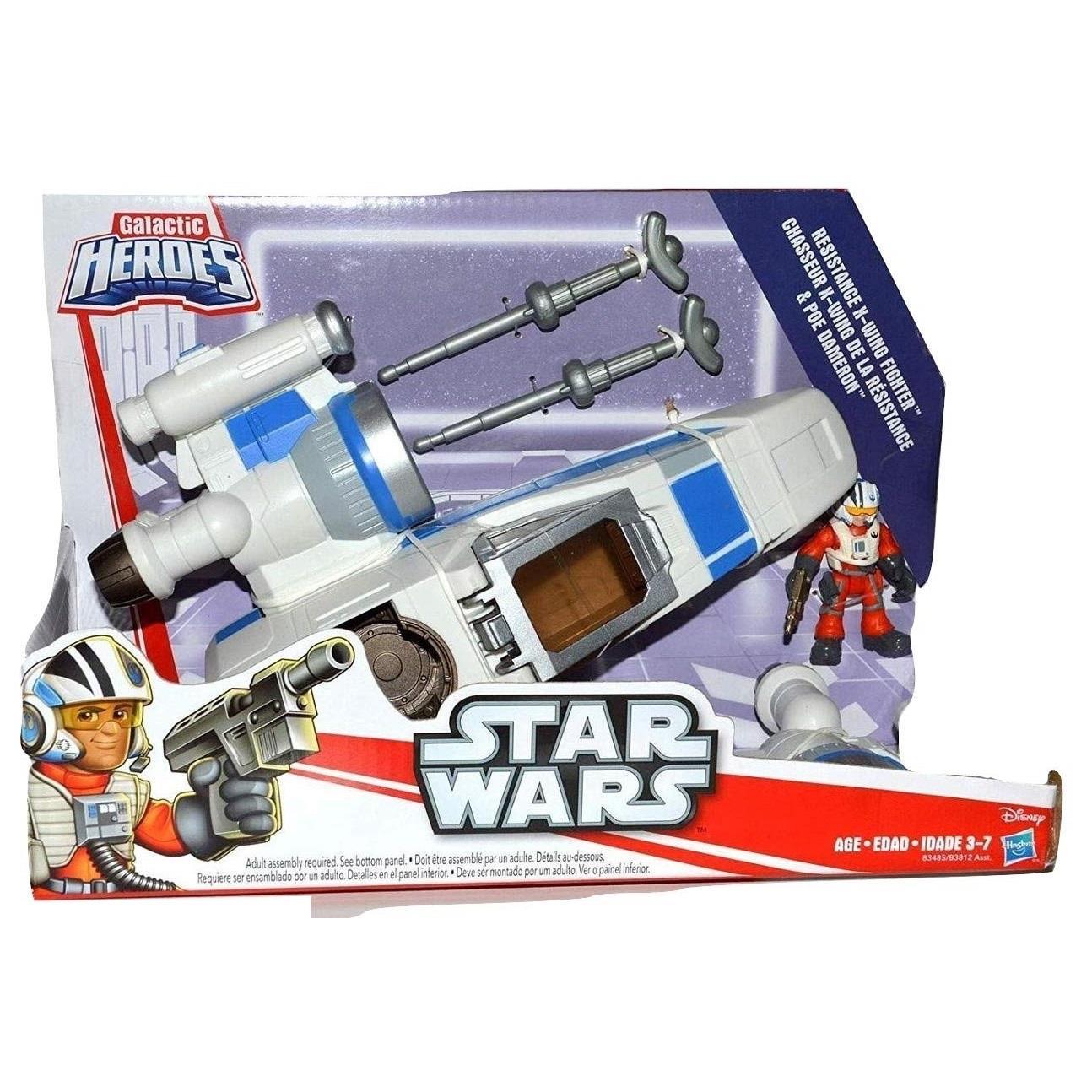 Playskool Star Wars Galactic Heroes Last Jedi Pilot X wing Poe Dameron
