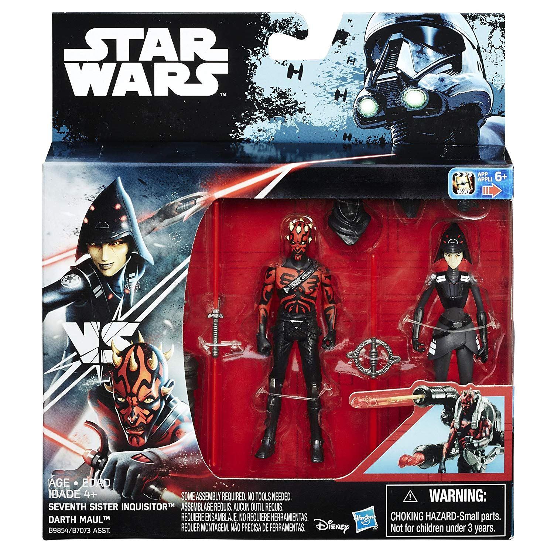 7th soeur inquisiteur vs Darth Maul//Snowtrooper vs PoE Dameron figures Star Wars