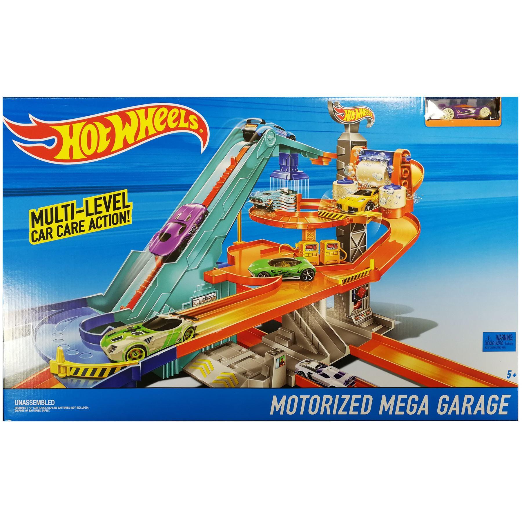 Hot Wheels BGJ18 Motorized Mega Garage Toy Vehicle Track