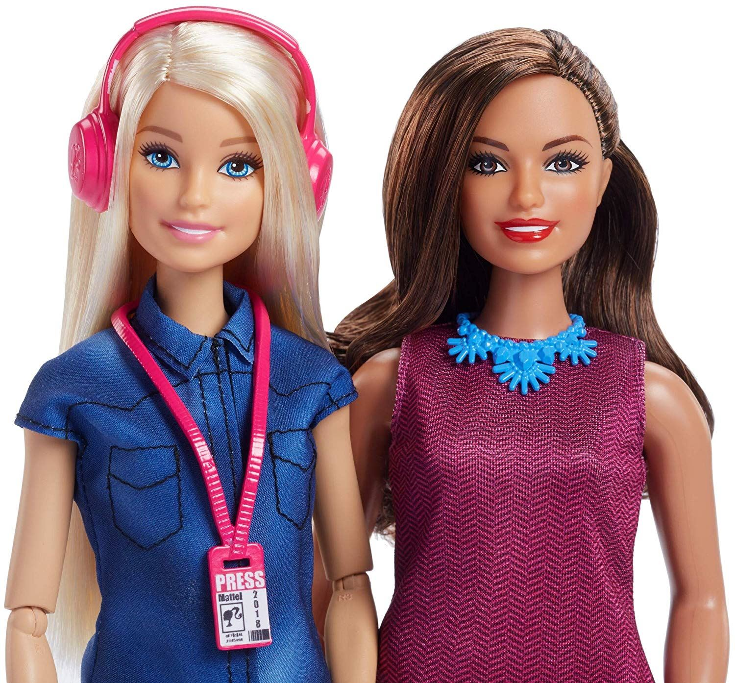 Details about Mattel Barbie Toy FJB22 2 Pack TV News Team Anchor Presenter  Doll & Accessories