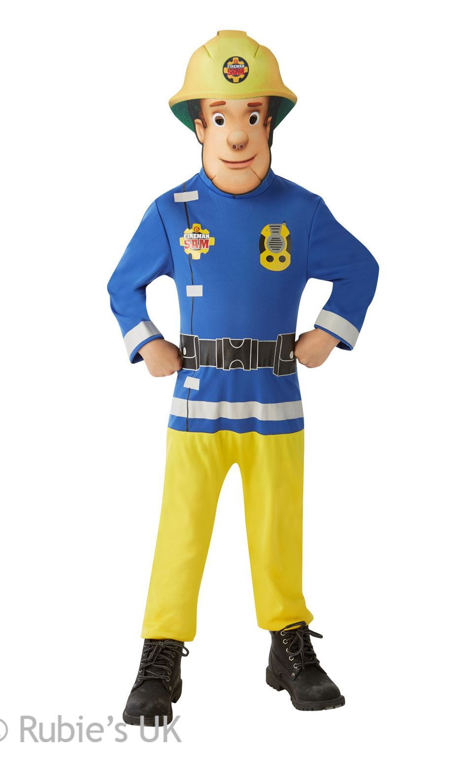FIRE FIGHTER FIREMAN SAM DRESSING UP COSTUME FANCY DRESS BOYS TODDLERS AGE 3-12