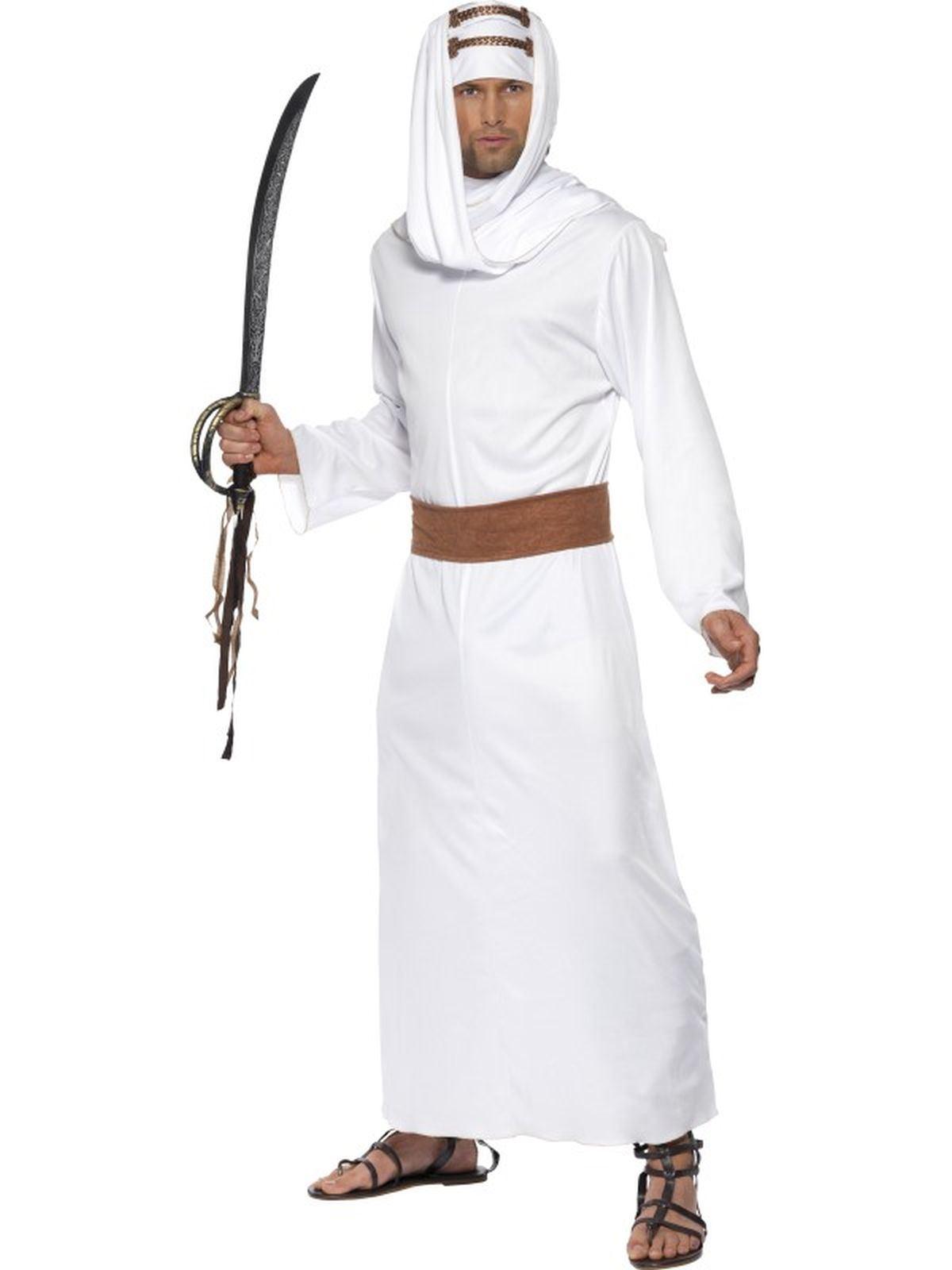 Adult Lawrence of Arabia Costume Shiek Arab Mens Fancy Dress Outfit