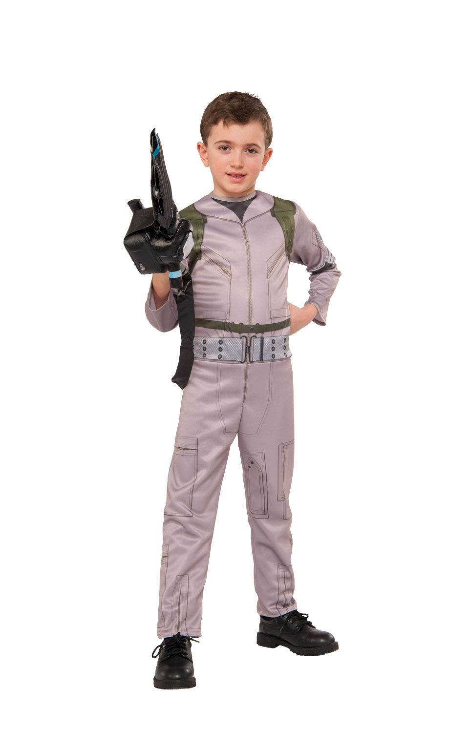 Boys Ghostbusters Costume 80s Movie Halloween Licensed Fancy Dress Kids Outfit
