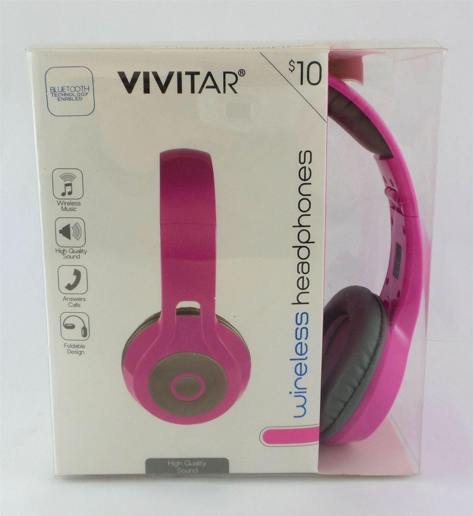 b9816f76083 Vivitar Bluetooth Wireless Stereo Headphones with Mic Foldable Pink  BH-C26-PNK