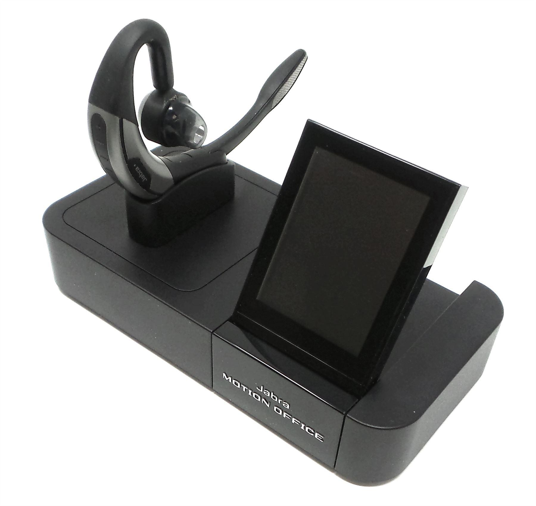 a848032b322 Jabra MOTION Office MS Lync Wireless BT Headset Charge+Travel Black 6670 -904-305