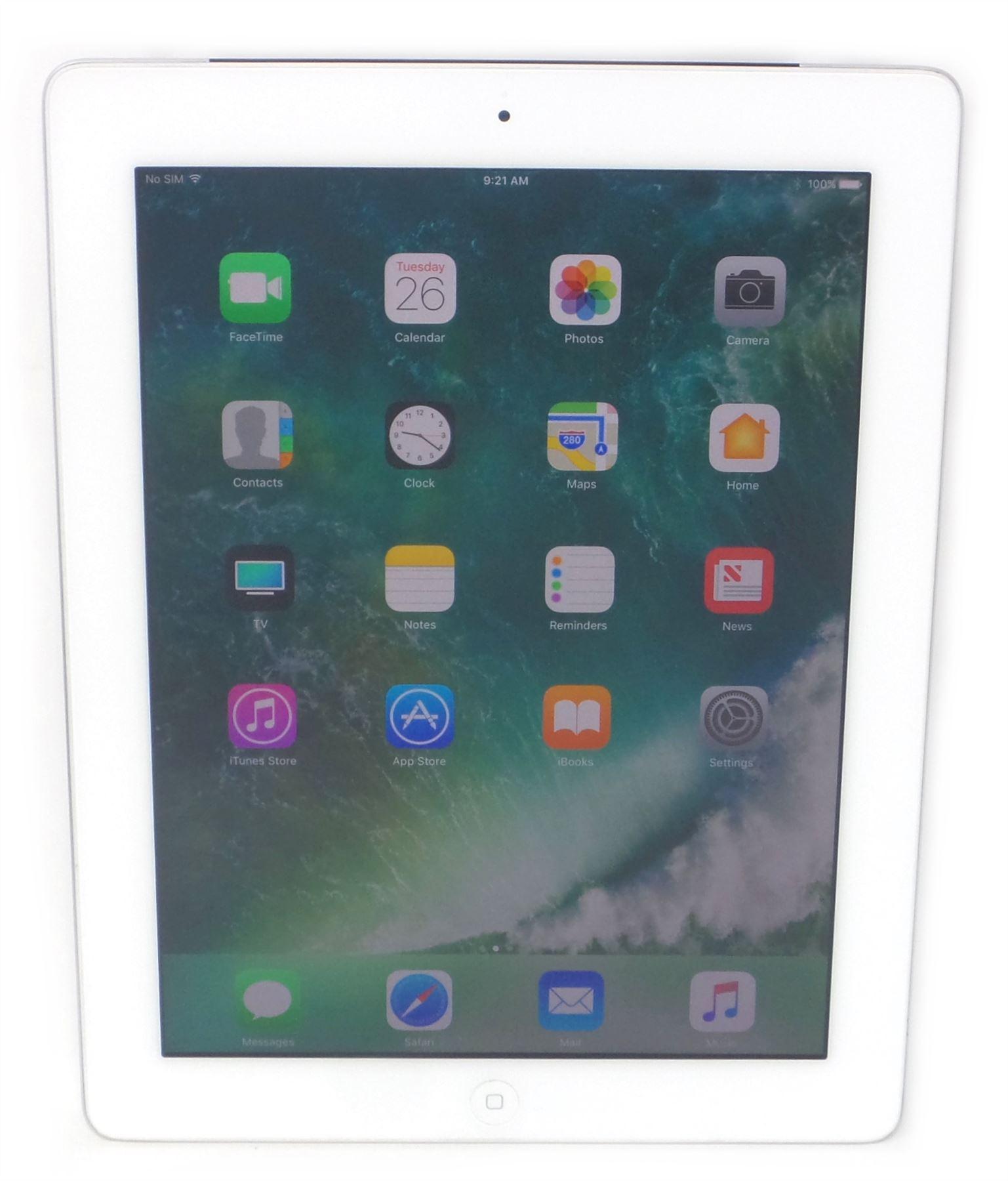 White Bare Apple iPad 4th Generation 9.7in 16GB Cellular Black 128GB Wi-Fi
