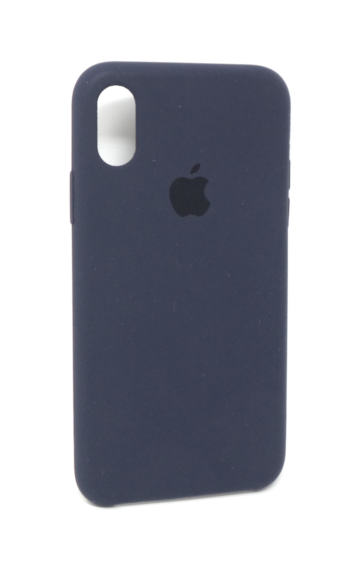 los angeles dbb21 d617e Details about Apple Silicone Case for Apple iPhone X Midnight Blue  MQT32ZM/A Genuine