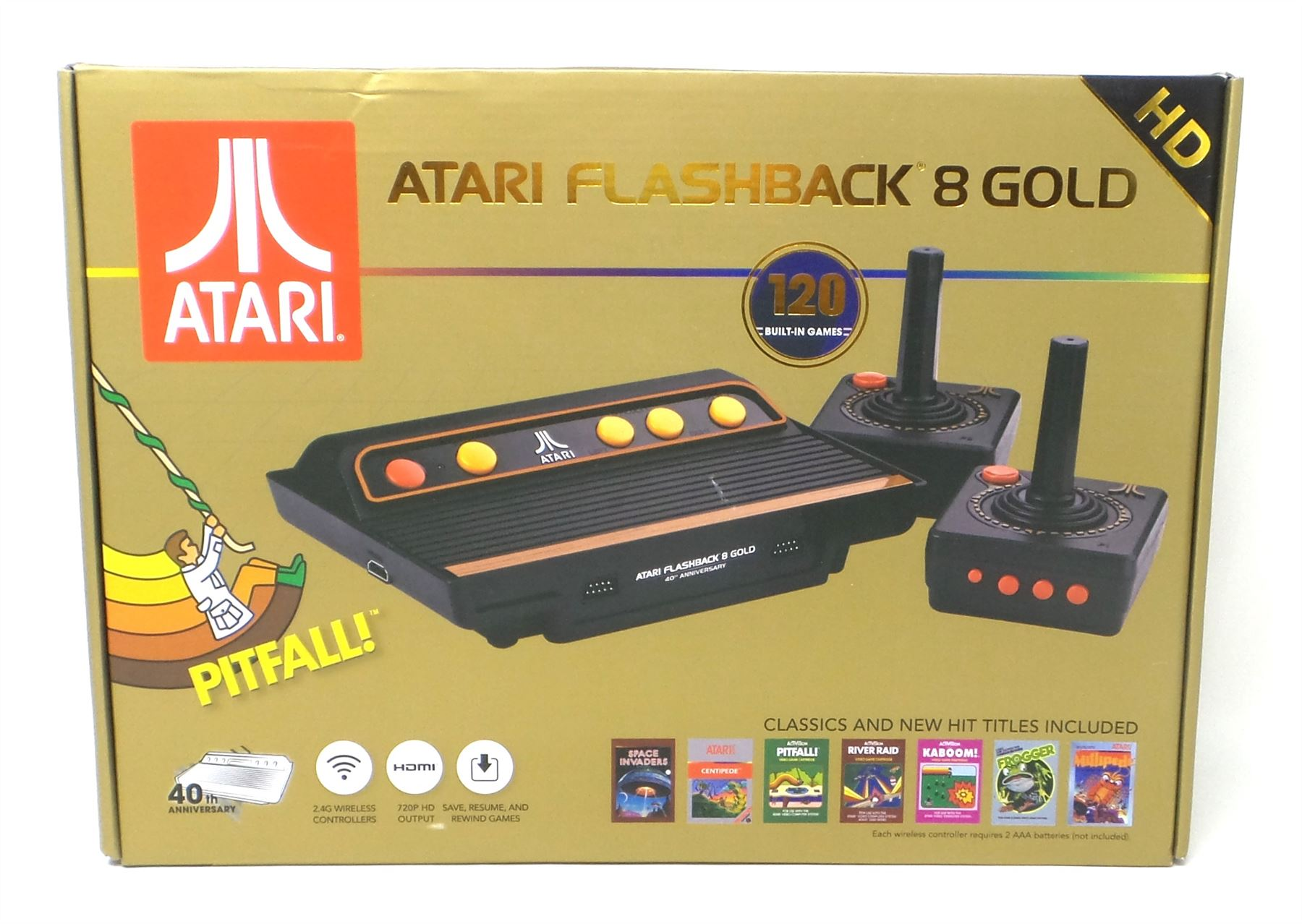 Details About Atari Flashback 8 Gold Hd Classic Gaming Console 120 Built In Games Ar3620