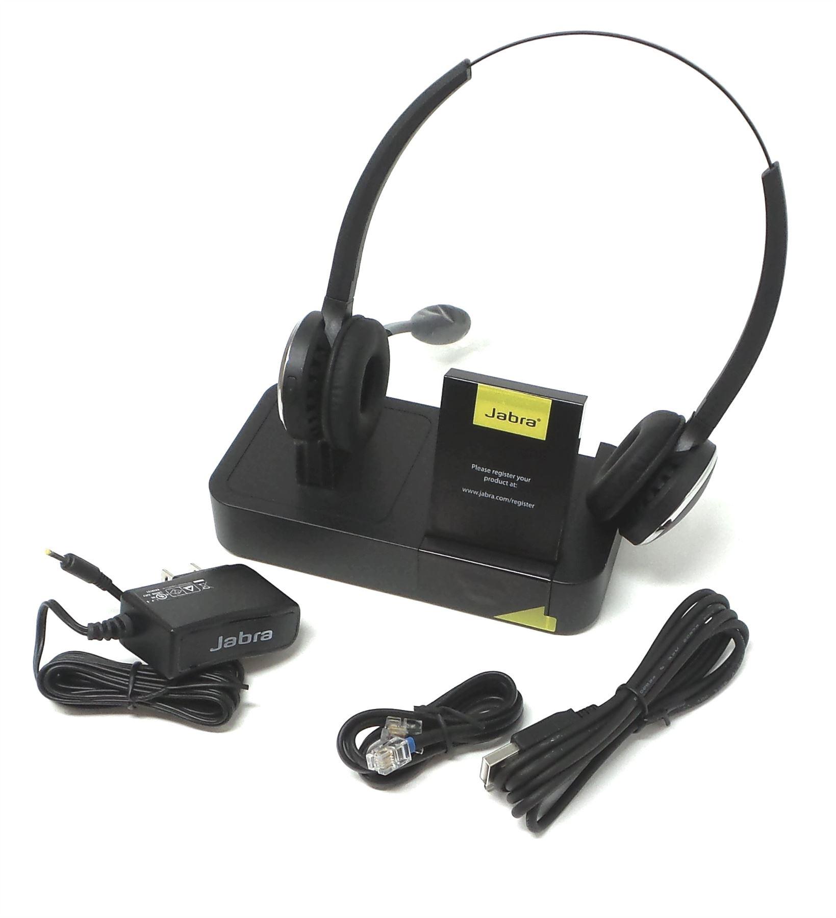 Jabra Pro 9460 Duo Wireless Headset For Deskphone Softphone Black  460 69 707 105