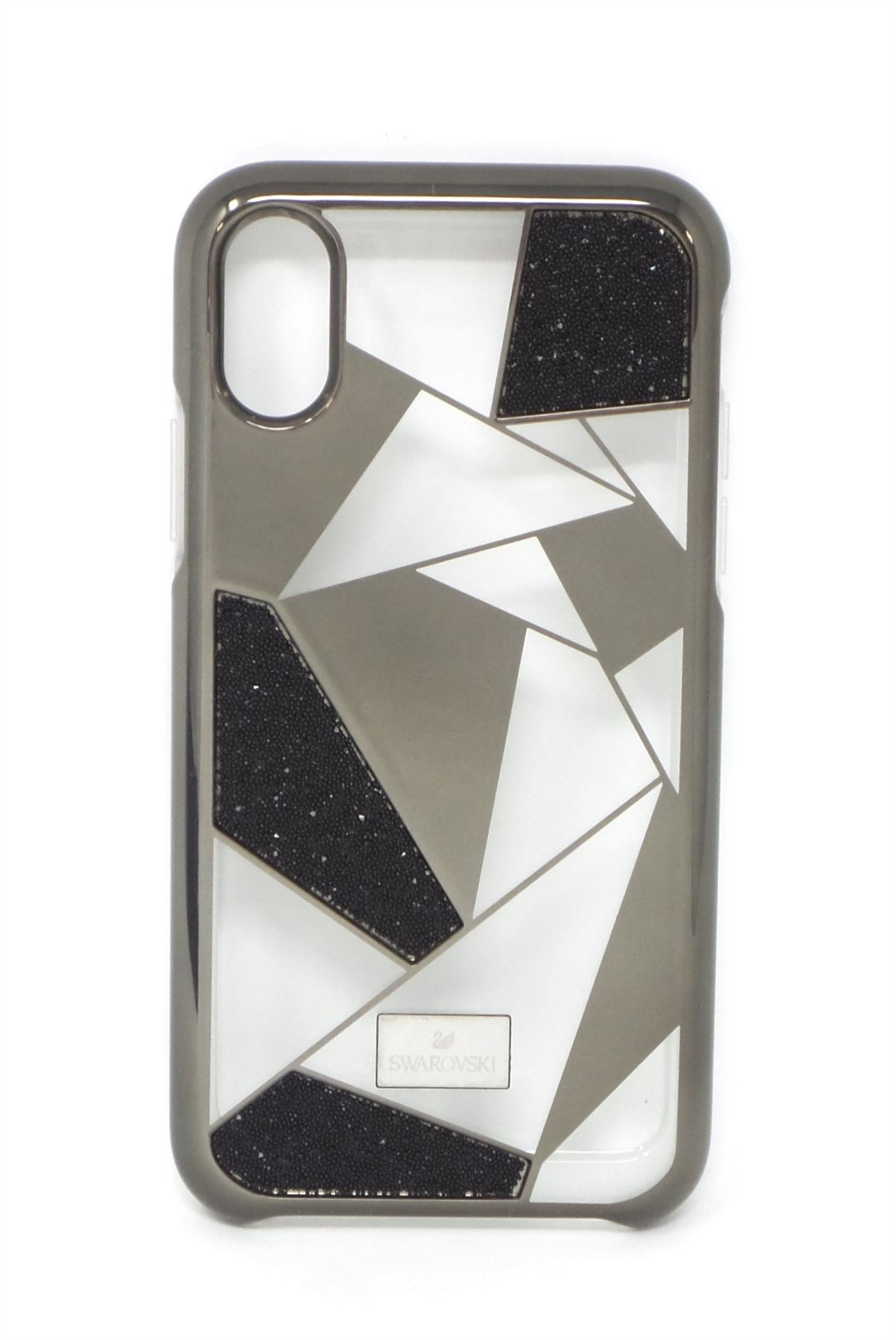 new style 897ae a4cf1 Details about Swarovski Heroism Case for Apple iPhone X Black/Gold/Clear  16071VRP New