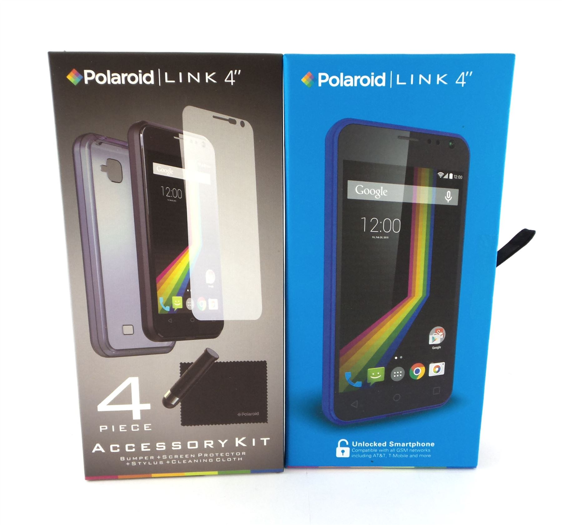 "Polaroid LINK 4"" 4G Unlocked Android Smartphone 4GB Blue A4K BL New"