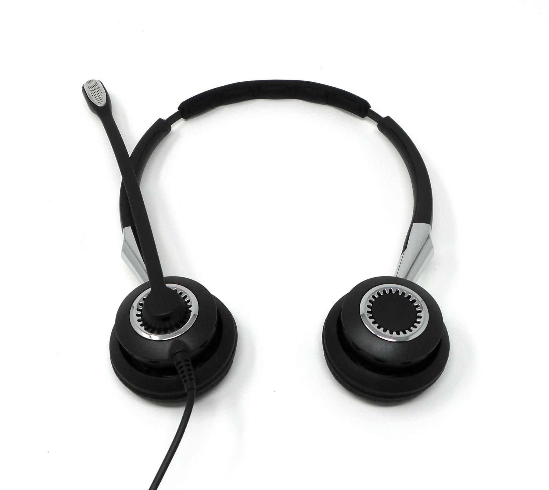 Wired Headset Jabra Biz 2400 Duo Wb Balance: Jabra BIZ 2400 II QD Duo NC Wideband On-Ear Wired Headset