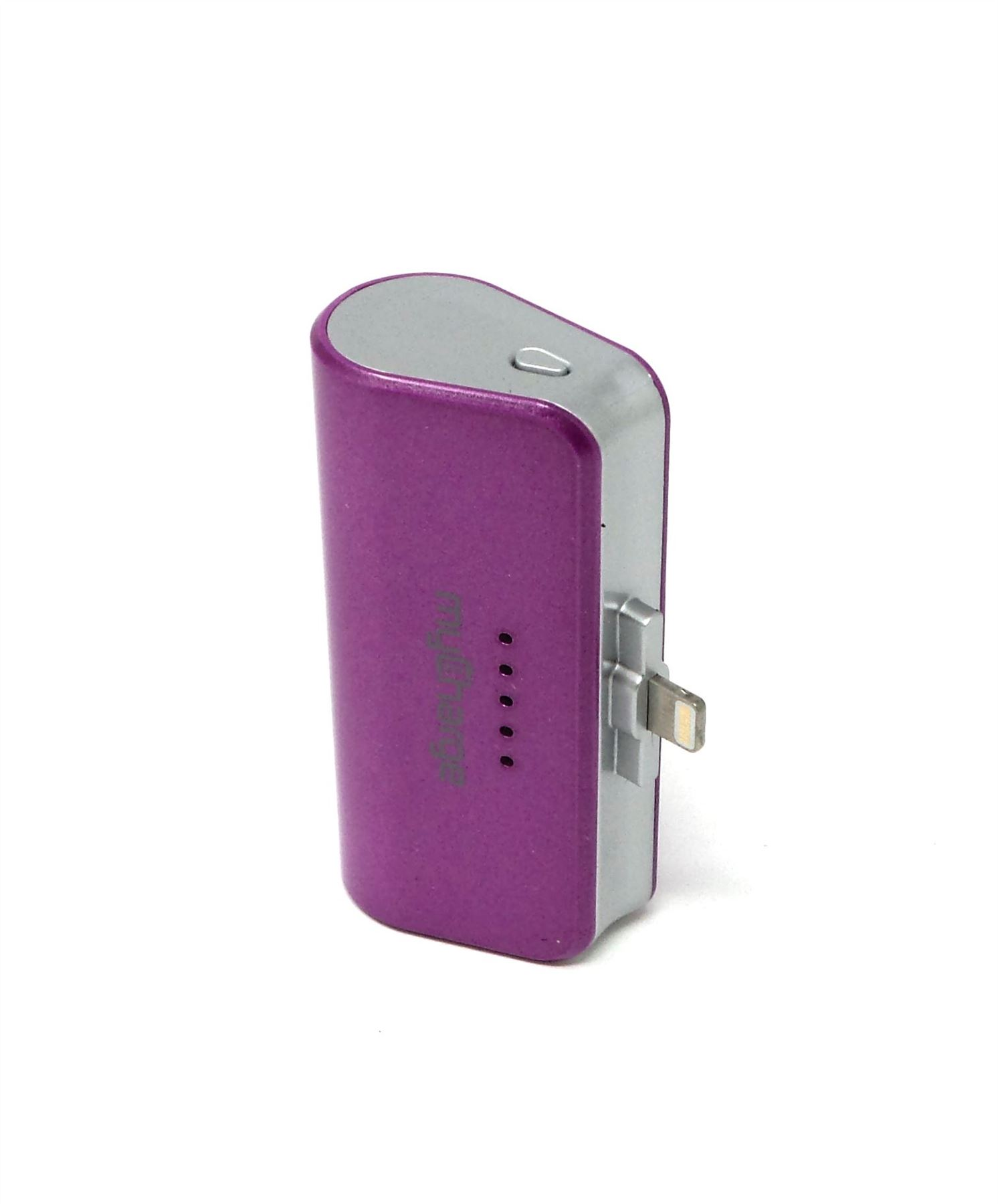 707680f725e301 myCharge Power Pack Portable Charger for iPhone Purple 2600mAh PPL26P-A