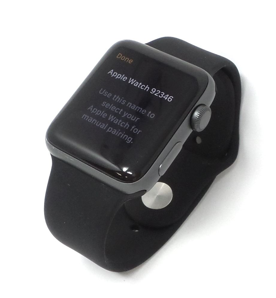Apple Watch Series 2 Aluminum Space Gray 38mm Gps Black Band M L Bare