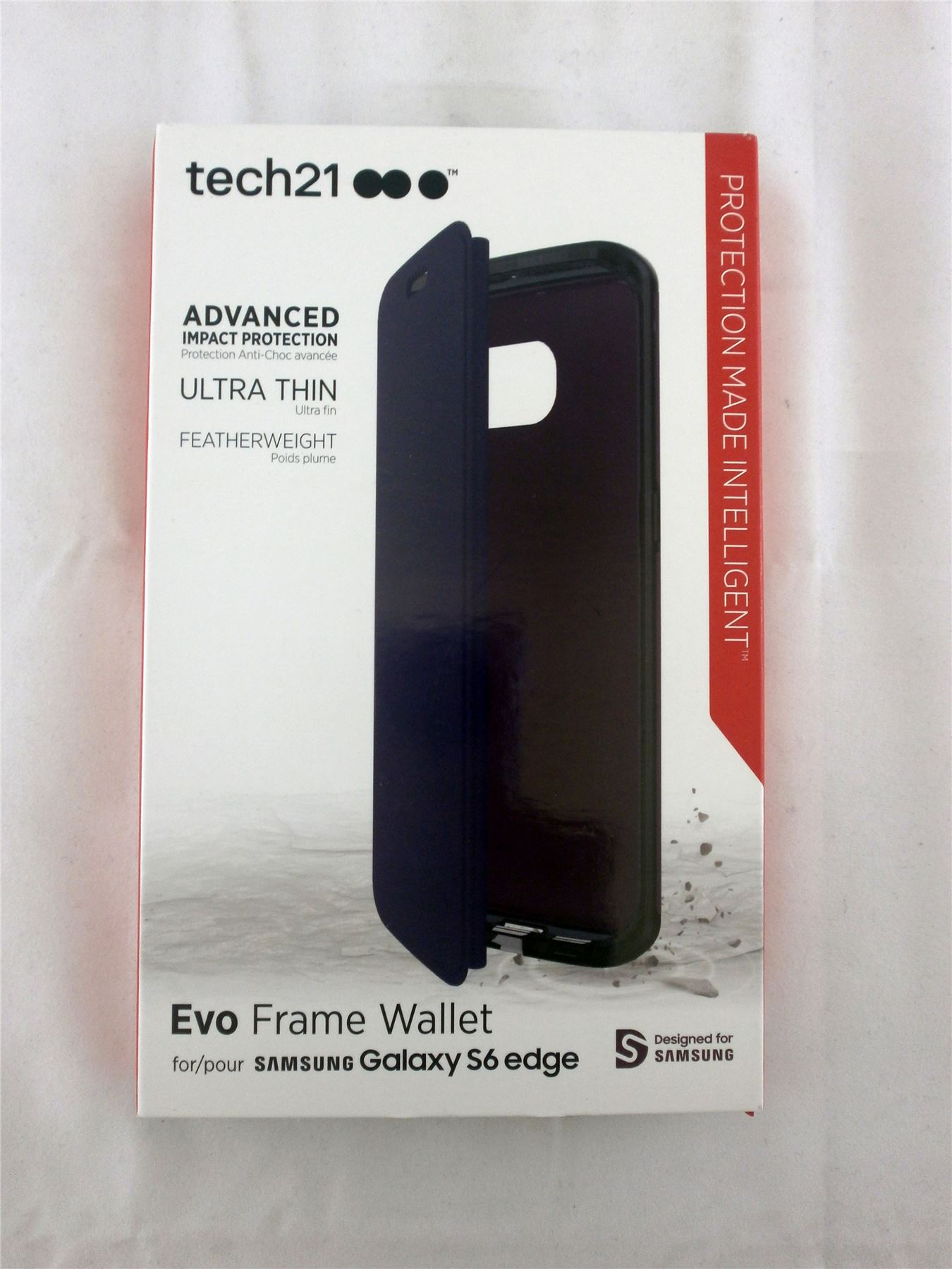 promo code eda98 d33a0 Details about Tech21 Evo Frame Wallet Case Cover for Samsung Galaxy S6 Edge  Purple T21-4459