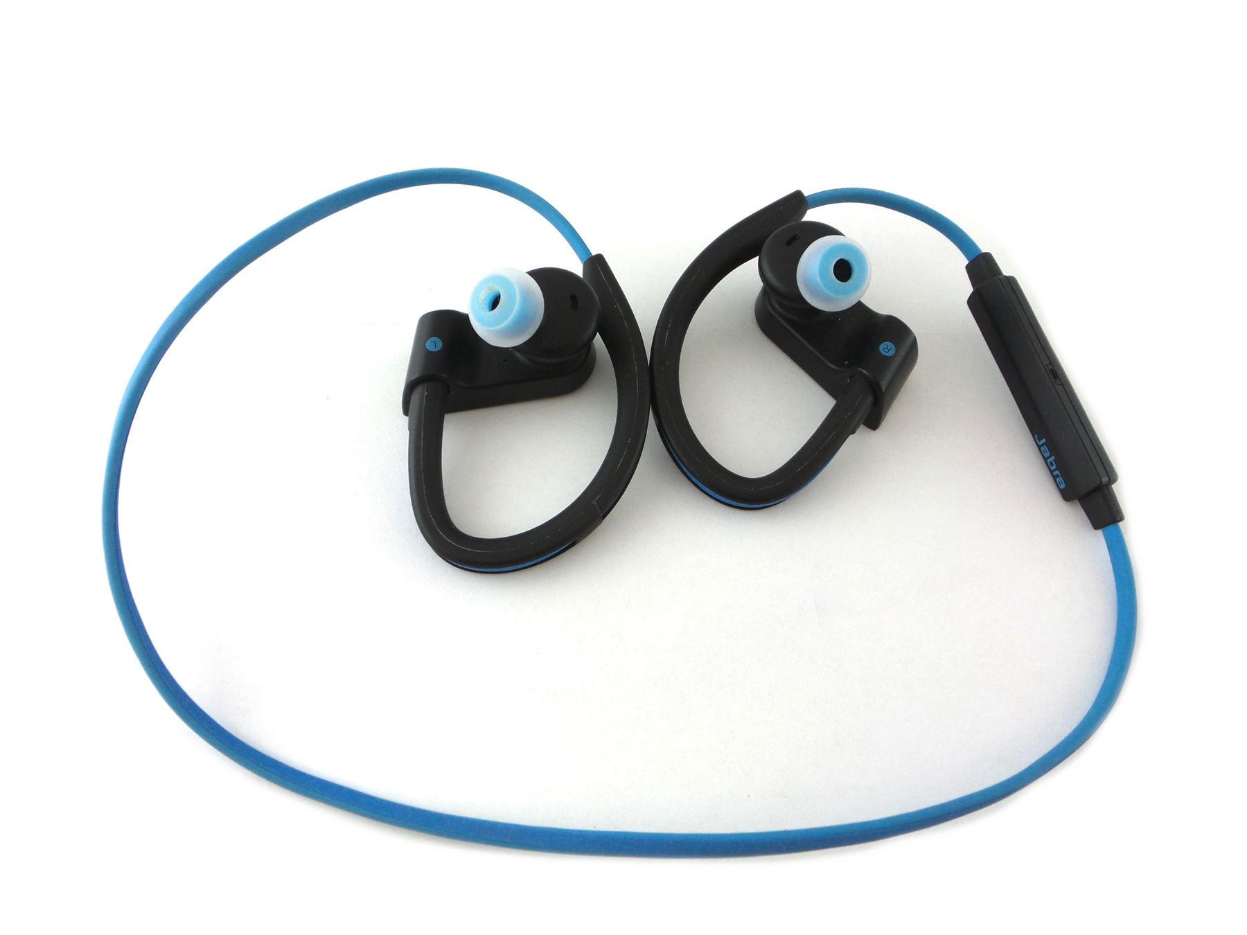 Jabra Sport Pace Wireless Ear Hook Headphones Blue 100 97700002 02 Earbuds See Desc